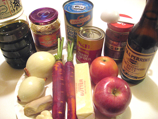 Japanese curry ingredients