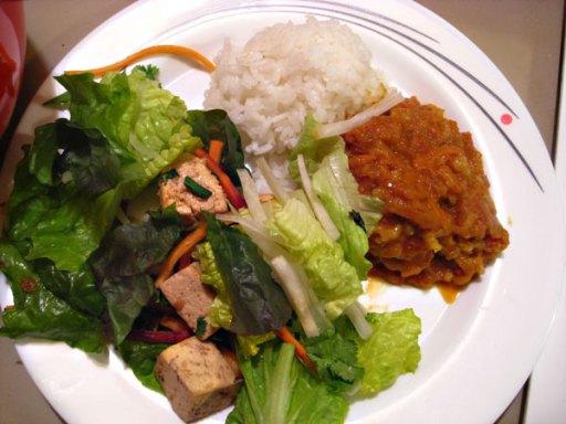 Japanese Curry and Tofu salad