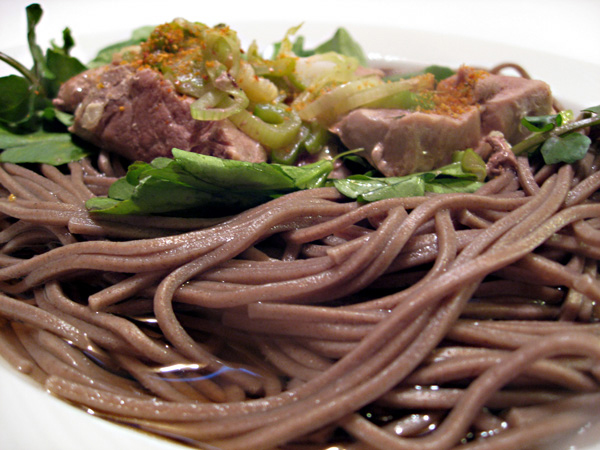 Toshikoshi Soba Noodles, Duck!   Tess's Japanese Kitchen