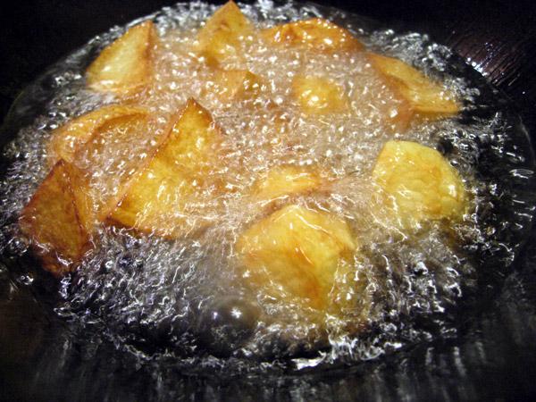 Deep Fried Potatoes Potatoes Are Deep-fried