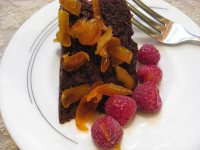 Chololate Cake with candied orange peel