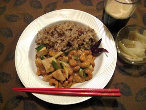 Japanese Chicken Cashew Stir-fry
