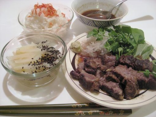 Japanese Roast Beef and potato pickles