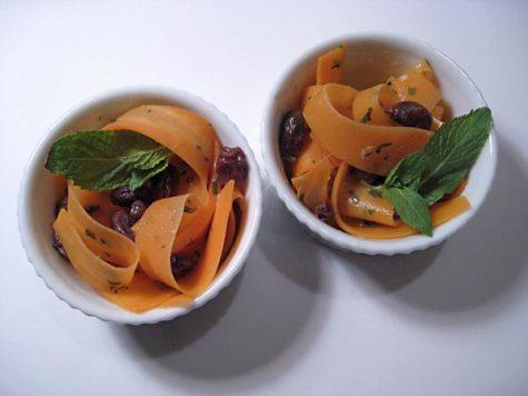 tsukemono carrot mint ribbons