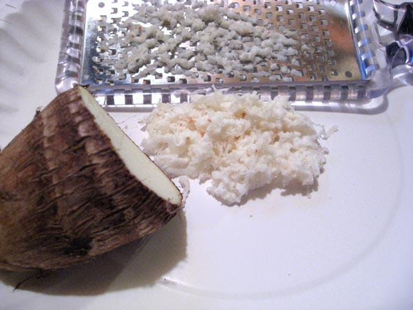 confused yama-imo with sato-imo. Taro root. Taro is also sort of ...