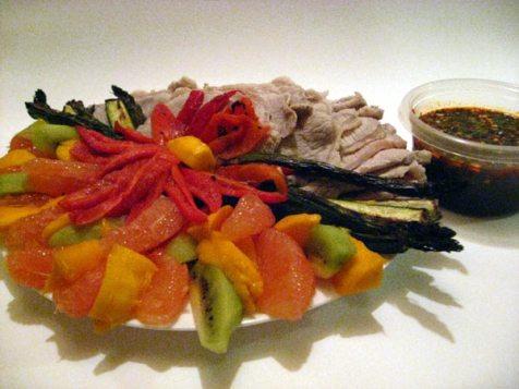 pork shabu shabu plate
