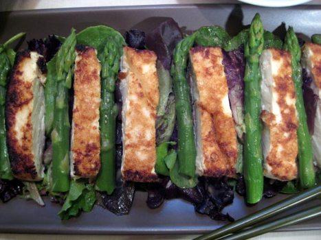 Tofu Salad with asparagus
