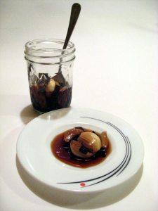 garlic pickled in kombu-soy sauce