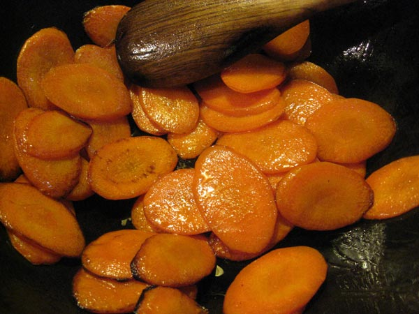 miso saute carrot cooking