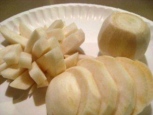 turnips cut
