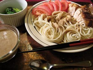 Sesame Dipping Sauce with Udon
