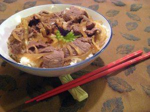 gyu donburi Japanese beef and rice