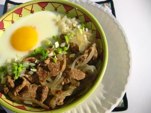 Beef and Onion Donburi