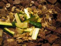 Sesame beef with vegetable