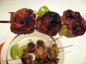 Yakitori Grilled Meatballs