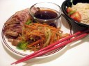 Spicy Marinated Chicken with Fennel Carrot Stir-Fry