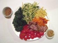 Vegetables for Hiyashi Chuka Soba