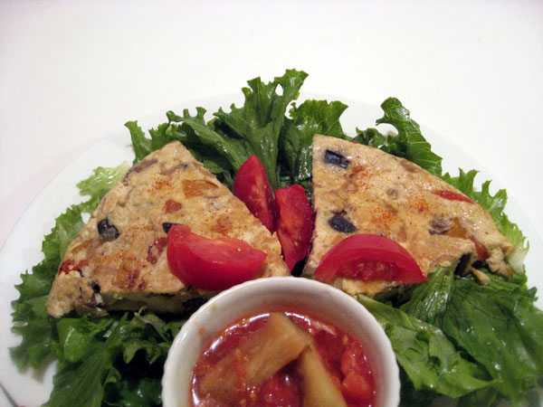 Japanese Tofu and Vegetable Omelette