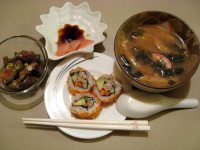 Sushi, Eggplant, and Miso