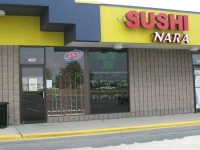 Sushi Nara is in the Arbor Square shopping center and has plenty of free parking.