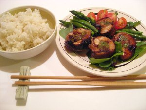 Teriyaki Chicken-and-Asparagus Rolls