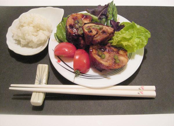 Teriyaki Chicken-and-Asparagus Rolls