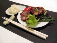 Teriyaki Chicken and Asparagus Rolls