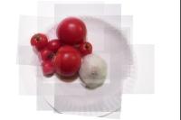 garlic and tomatoes panography