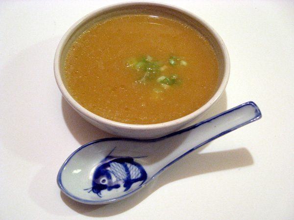 Bright Orange Kabocha-Miso Soup | Tess's Japanese Kitchen