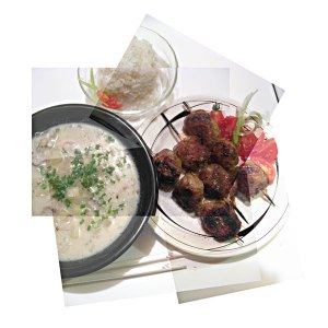 Panography of oyster chowder almost