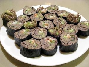 Soba Sushi on a platter