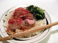 Sweet and Sour Tomato Onion Sauce with Tuna Steak