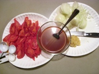 Sweet and Sour Tomato Onion Sauce