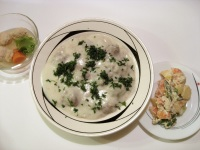 avgolémono Greek Egg-Lemon Soup with Meatballs