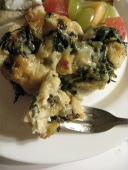 Spinach and Cheese Strata