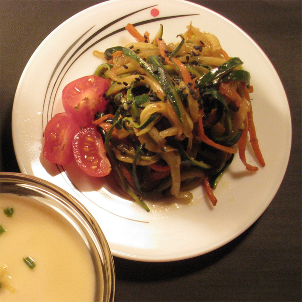 Spicy Stir-fried Zuchini and Carrot
