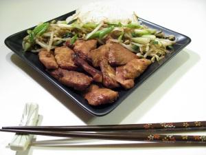Ginger Flavored Pan-Fried Pork