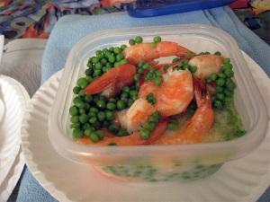 Shrimp and Peas, Microwaved
