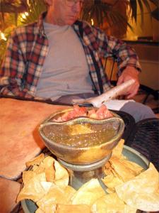 Cilantro Tamale tortillas and dip