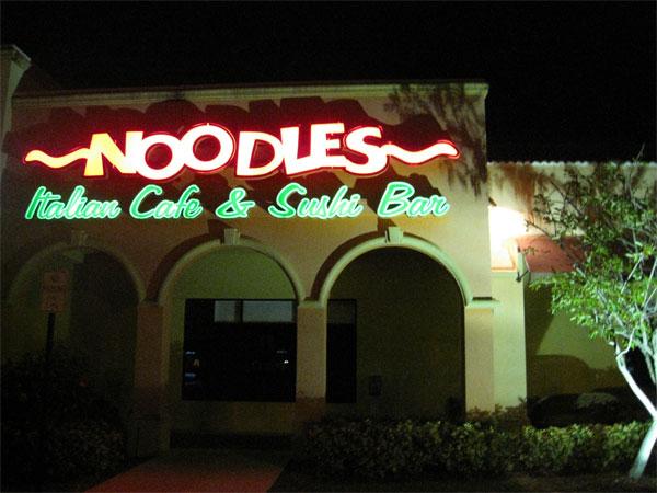 Noodles Italian Cafe Sushi Bar