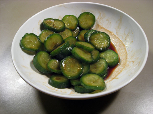 Cucumbers in Spicy Soy Sauce