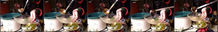 Serving Tuna and Negi Hot-Pot