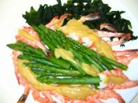 Shrimp with Miso Mustard Sauce