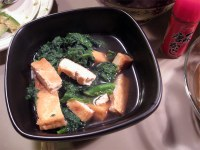 Japanese Greens simmered with tofu