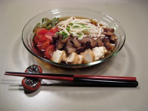 Udon with Simmered Shiitake and Atsuage