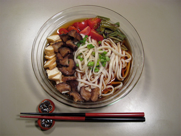 Dried Shiitake with Udon