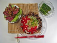 Somen with Simmered Mushrooms