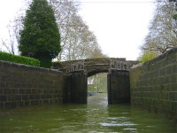 Gates closing to the lower canal.