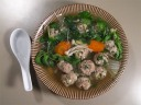Mung Bean Noodle Soup with Meatballs