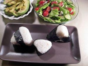 Onigiri and Salad